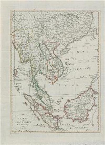 Karte von Ost – Indien diesseits des Ganges oder Hindostan und Dekan