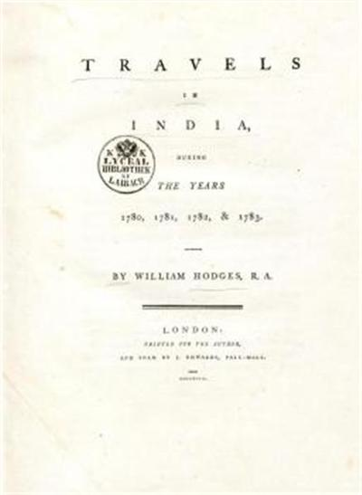 Travels in India during the years 1780, 1781, 1782, & 1783