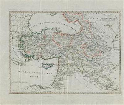 Karte vom osmannischen Reich in Asien.