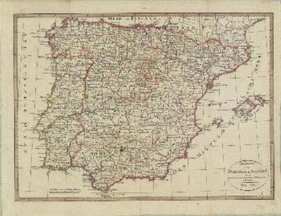 Karte von Portugal und Spanien nach den besten und neuesten Hilfsmitteln entworfen