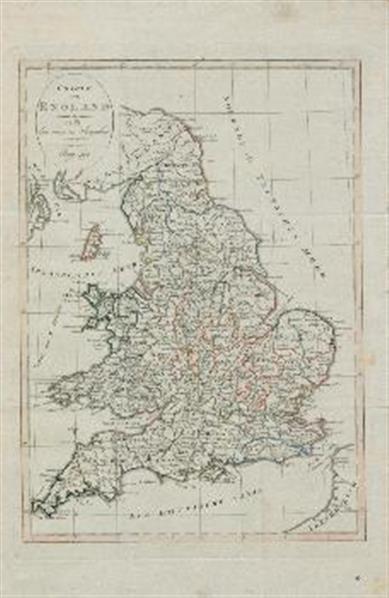 Karte von England nach den neuesten Angaben entworfen.