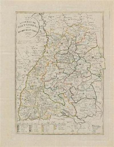 Karte von dem Königreich Wirtemberg und dem Grossherzogtum Baaden