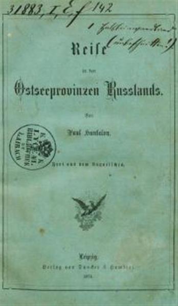 Reise in den Ostenprovinzen Russlands; frei aus dem Ungarischen