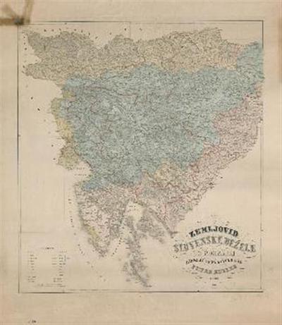 Zemljovid Slovenske dežele in pokrajin