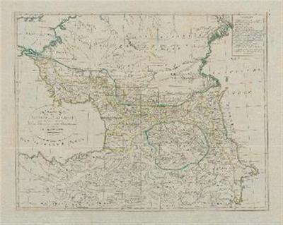 Karte der Länder am Caucasus nach den besten vorhandenen Karten, Reisen und astronomischen Ortsbestimmungen gezeichnet von I. C. M. Reinecke.