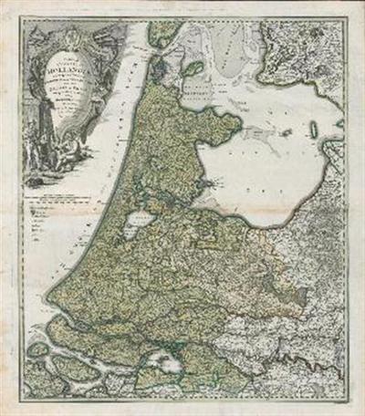 Tabula comitatus Hollandia cum ipsius Confinijs, domini nimirum ultraiectini nec non Geldriae et Frisiae