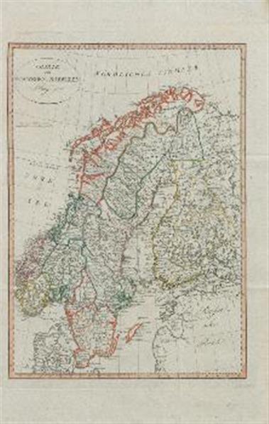 Karte von Schweden und Norwegen