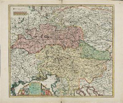Ducatus Stiriae et Carintiae Carniolae Cillieiae et Comitatus; Nova Tabula que et Pars est Meridionalior Circuli, Austriaci
