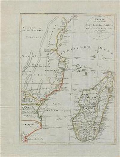 Karte von einem Teile der Ost-Küste von Afrika begreifend die Kaffer Küste, die Küste Mozambique und Zanguebar nebst der Insel Madagaskar