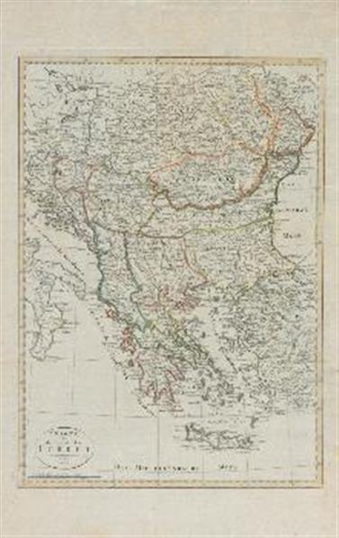 Karte von der europäischen Türkei