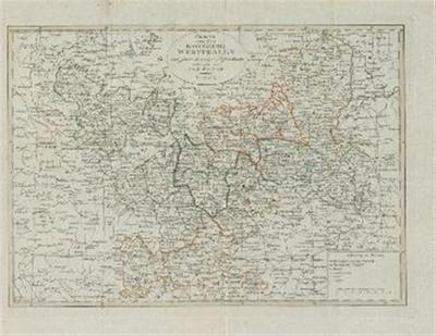 Karte von dem Königreiche Westphalen nach seinen dermaligen Bestandtheim etworfen von Friedrich Wilhelm Streit