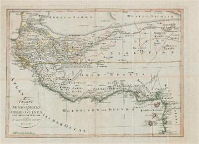 Karte von Senegambien und Ober – Guinea nebst dem innern Nigritien. Nach den neuesten Nachrichten entworfen./ Zemljevid Senegambije, Zgornje Gvineje in osrednjega Sudana. Zasnovano po najnovejših poročilih