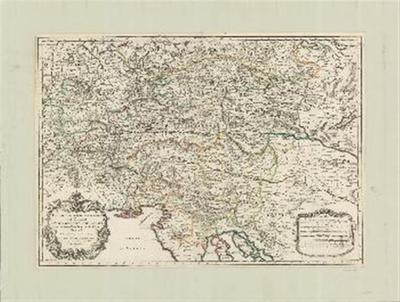 Partie du cercle d'Austriche ou sont les duche's de Stirie, de Carinthie; de Carniole et autres Estats Hereditaires a la Maison d'Austriche