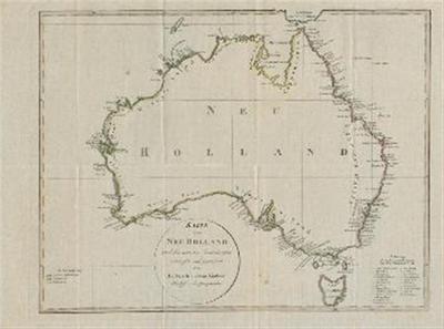 Karte von Neu Holland nach den neuesten Entdeckungen entworfen und gezeichnet von Dr. Friedrich Ludwig Lindner, Professor der Geographie