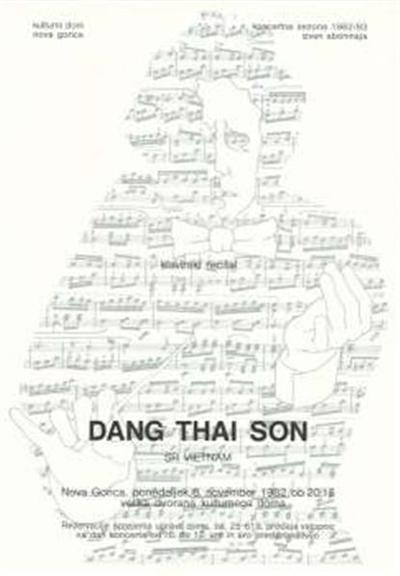 Kulturni dom Nova Gorica; klavirski recital Dang Thai Son SR Vietnam; koncertna sezona 1982 / 83 izven abonmaja; Nova Gorica, ponedeljek, 8. november 1982 ob 20.15