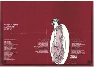 Na trgu v Vipavi 3. julija 1987 ob 21. ur; Opera in balet; Violetta Olga Gracelj, Alfred Jurij Rej