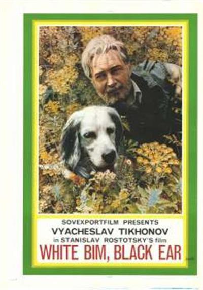 White Bim, black ear; Sovexportfilm presents Vyacheslav Tikhonov in Stanislav Rostotsky's film