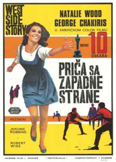 Priča sa Zapadne strane; igrajo Natalie Wood, George Chakiris, režiseri Jerome Robbins, Robert Wise; igrajo Natalie Wood, George Chakiris, režiseri Jerome Robbins, Robert Wise; West side story; West side story