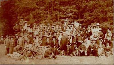 Izlet Glasbene Matice k Belopeškim jezerom 6. junija 1909