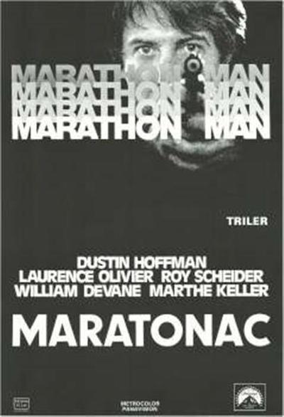 Maratonac; Dustin Hoffman, Laurence Olivier, Roy Scheider, William Devane, Marthe Keller; Dustin Hoffman, Laurence Olivier, Roy Scheider, William Devane, Marthe Keller; Marathon man; Marathon man; triler; triler