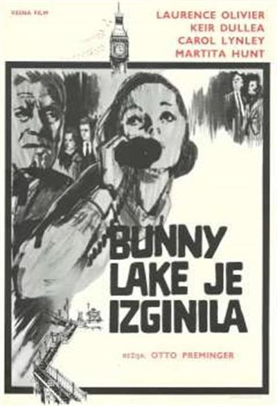 Bunny Lake je izginila; režija Otto Preminger, igrajo Laurence Olivier, Keir Dullea, Carol Lynley, Martita Hunt