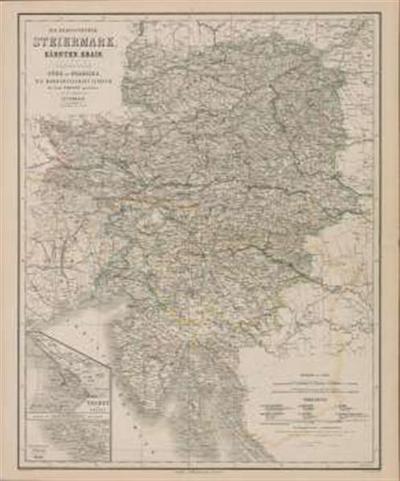 Die Herzogthümer Steiermark, Kärnten, Krain, die gefürstete Grafschaft Görz und Gradiska, die Markcrafschaft Istrien, die Stadt Triest mit Gebiet und das ungarische Littorale