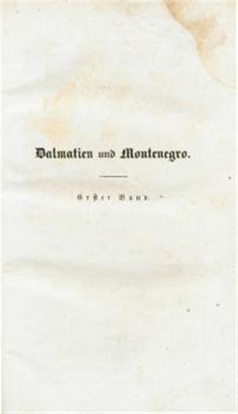 Dalmatien und Montenegro; mit einem Ausfluge nach der Herzegowina und einer geschichtlichen Uebersicht der Schicksale Dalmatiens und Ragusa's