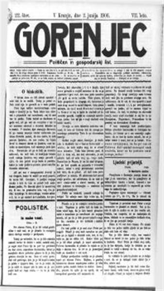 Gorenjec: političen in gospodarski list