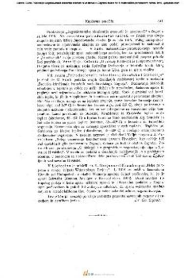 Publikacije »Jugoslovanske akademije znanosti in umetnosti« v Zagrebu za leto 1915; Matematično-prirodoslovni razred