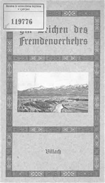 Im Zeichen des Fremdenverkehrs; herausgegeben und verfaßt von Hugo Bürger