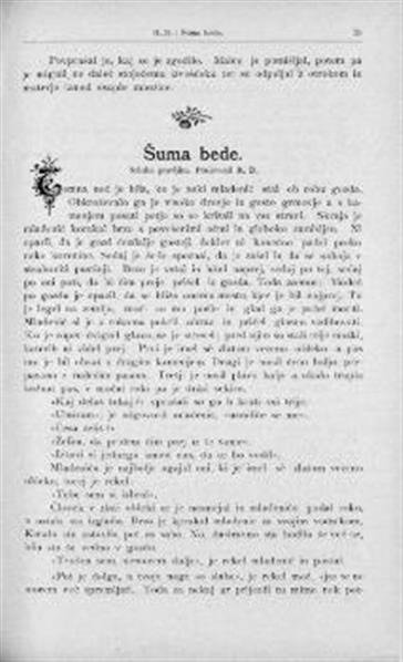 Šuma bede: srbska pravljica