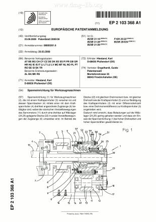 Spanneinrichtung für Werkzeugmaschinen