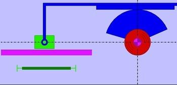 Schubkurbel (MC-GG) - Bewegungsaufgabe Synchronfahrt