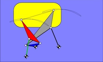 7-gliedriges Parallelführungsgetriebe nach Hain