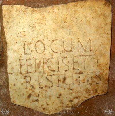 Inscription from Rome, Coem. anonymum ad viam Ardeatinam - ICVR IV, 12292