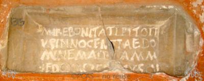 Inscription from Rome, Coem. Cyriacae ad s.Laurentium - ICVR VII, 17699