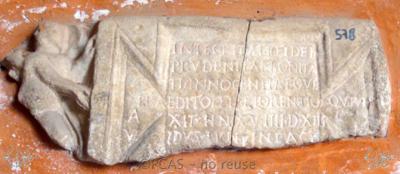 Inscription from Rome, Coem. Cyriacae ad s.Laurentium - ICVR VII, 17813