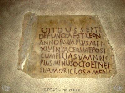 Inscription from Rome, Coem. Cyriacae ad s.Laurentium - ICVR VII, 17903
