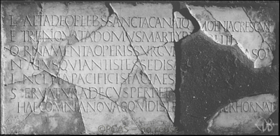 Inscription from Rome, Coem. s.Hippolyti - ICVR VII, 19936