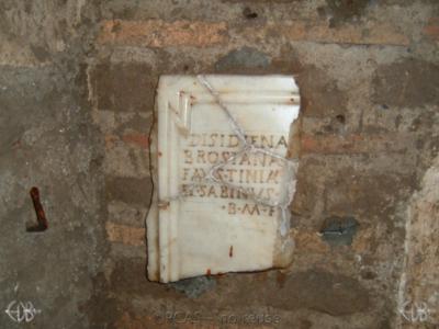 Inscription from Rome, Coem. Priscillae - ICVR IX, 25103