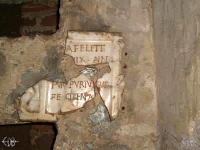 Inscription from Rome, Coem. Priscillae - ICVR IX, 25423