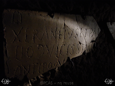 Inscription from Rome, Coem. Domitillae pars superior - ICVR III, 7887.e