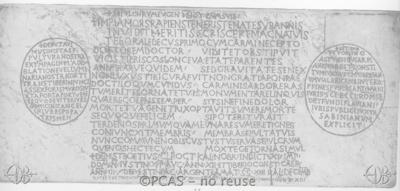 Inscription from Rome, Basilica S.Petri apostoli - ICVR II, 4187
