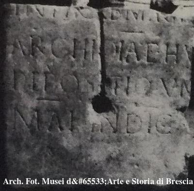 Inscription from Brixia