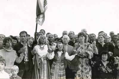 Aldona Černiauskienė Baltijos kelyje. 1989