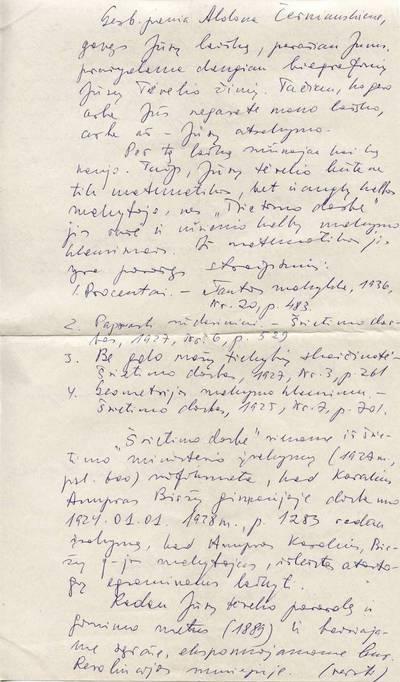 Algirdo Ažubalio laiškas. 1990-07-13