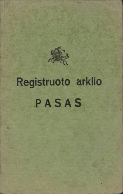 Registruoto arklio pasas