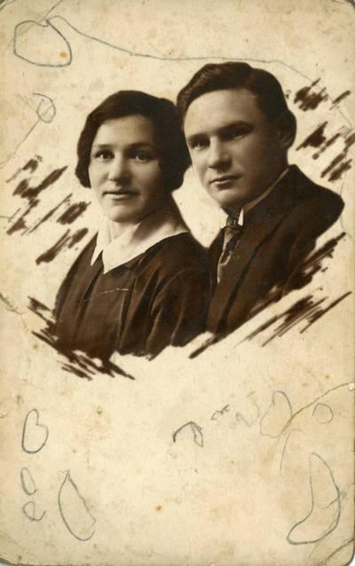 Nežinomas fotografas. Bolys Sabaitis su seserim Zose Sabaityte. 1932