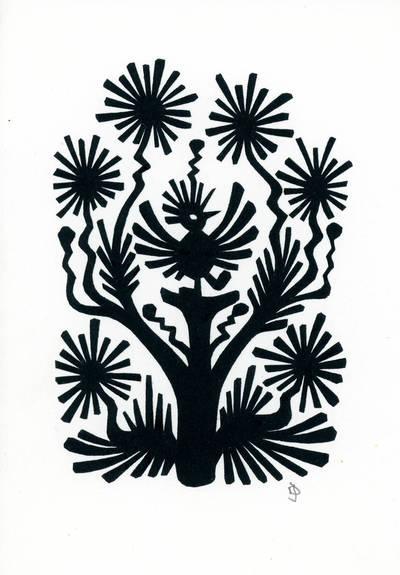 Julija Daniliauskienė. Medžio su paukščiais motyvas. 2000