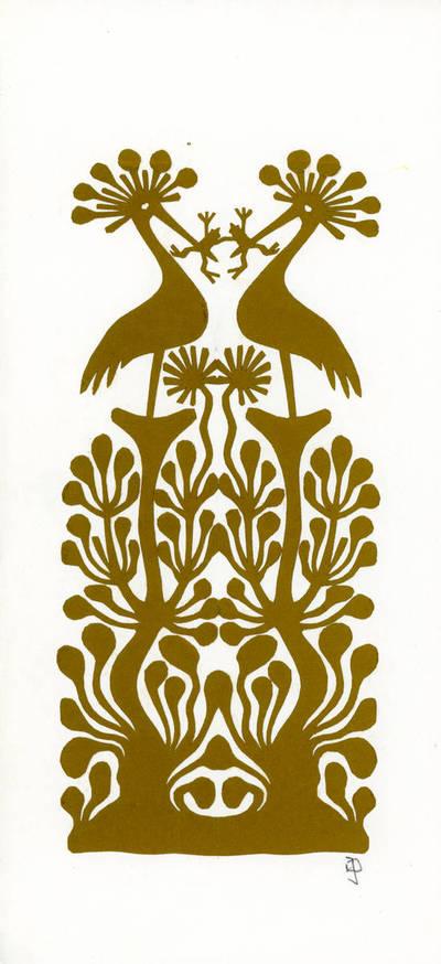 Julija Daniliauskienė. Medžių su paukščiais motyvas. 2000